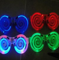 big lollipops - 4 Color LED Glowing Glasses Lollipop Flash EL Glasses Round LED Glasses Led Rave Toy Christmas Gifts Party Club Props PPA354
