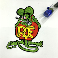 big daddy roth - OFFICIALLY LICENSED ED quot BIG DADDY quot ROTH RAT FINK CAFE RACER HOT ROD PATCH green