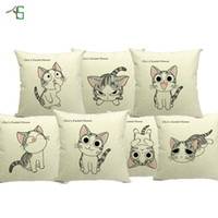 animal print furniture - Chi s Sweet Home Cat Cushion Cute Animal Carton Printed Linen Pillow For Sofa Furniture Home Decorative