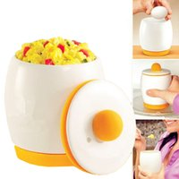Wholesale Ceramic Microwave Egg Cooker Poacher Fast Fluffy Eggs Scramble Cook Pot Tastic Microwave Egg Cooker white ceramic kitchen tool and Poacher