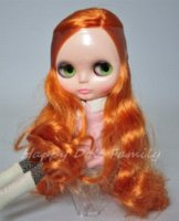 baby doll wigs - 12 quot nude doll orange hair no bangs doll phone doll hair wigs doll hair wigs