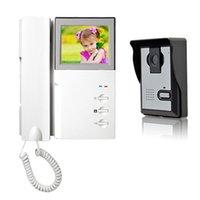 achat en gros de résolution de l'écran-Nouvelles de 4,3 pouces numérique écran haute résolution LCD vidéo porte téléphone 420 lignes pour la maison Villa sécurité F1633B