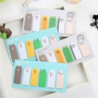 Wholesale Creative Mini Kawaii Finger Paper Sticky Memo Pad Cute Cartoon Animal Post It Note Korean Stationery