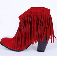 ankle boots with buckle - Women Winter Ankle Boots Fashion Chunky Heels Ankle Boots with Synthetic Material Popular Zip Style Hot Sale