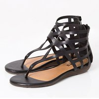 Wholesale New Summer Style Shoes Women Sandals Fashion Flats Wedge Good Quality Sandal Flip Flops Sexy Slippers Plus Size