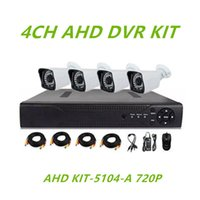 Wholesale Surveillance Protection AHD KIT A CCTV system CH P AHD DVR waterproof bullet camera m night vision AHD DVR KIT