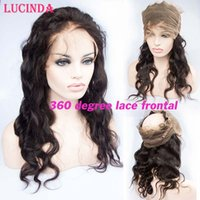 Wholesale 360 Lace Frontal Pre Plucked Brazilian Virgin Hair degree Lace Frontal Closures Body Wave With Adjustable Strap quot x4 quot x2 quot