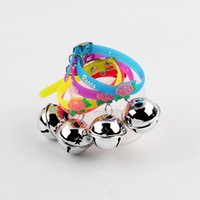 bell gel - Dog pet puppy Silica gel collars with bell dog products pet supply dot necklace