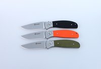 Wholesale GANZO Outdoor G7482 G7482 BK G7482 OR G7482 GR G7482 CF stonewashed stainess Folding hunting Knife