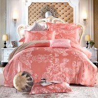 bedlinen sets - bedding set jacquard silk cotton series king queen size duvet quilt bedlinen covers bedclothes luxury bedsheet bedclothes