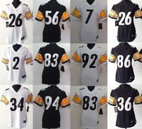 bell discounts - Women football Jerseys Ben Roethlisberger Le Veon Bell Jerome Bettis Heath Miller James Harrison discount jersey