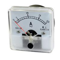 Analog Only Others AC 0-20A Wholesale-AC 0-20A Sqaure Fine Tuning Dial Panel Ampere Meter Amperemeter AC 20A Ammeter