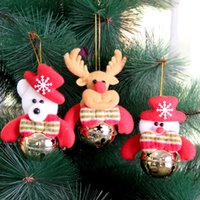 bears homes - 2016 New Merry Christmas Bells Santa Claus Snowman Elk Bear Bells Hanging Decoration For Home Navidad New Year