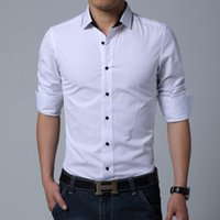 Wholesale Fashion Men Dress Shirts Long Sleeve Men Shirt Slim Fit Men s Clothing Chemise Homme