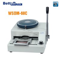 Wholesale WSDM C Manual Code Printer PVC card embossing machine letterpress rotogravure printing machine name card code printer