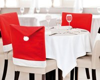 Wholesale Christmas Chair Cover Santa Claus Hat Chair Cover Christmas Decoration for Home Party Holiday B
