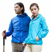 Wholesale New outdoor Camping amp Hiking jacket waterpoof climbing skin dust coat UV Protection quick dry rain coat for