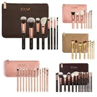 bags brown - HOT NEW ZOEVA Brushes Makeup pieces Professional Brushes Kit Foundation Brush Luxury Bag Black