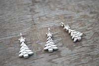 antique silver christmas tree - 35pcs Christmas Tree Charms Antique Tibetan Silver Tone Christmas Tree with star charm pendants x11mm