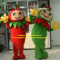 apple seedling - Vivid Green Red Tomato Love Apple Plantlet Seedlings Young Plants Mascot Costume Cartoon Character Mascotte Yellow Gloves ZZ504