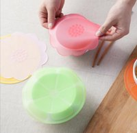 Wholesale hot sale universal Silicone Suction Lid bowl pan cooking pot lid silicon stretch lids silicone cover kitchen pan spill lid stopper cover