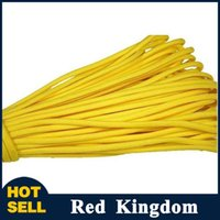 Wholesale 25ft ft ft Paracord Paracord Parachute Cord Strand Lanyard Rope Mil Spec Climbing Camping survival equipment Yellow