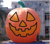 Wholesale 26ft Inflatable Pumpkin Halloween Jack O Lantern Holiday with Blower fast shipping
