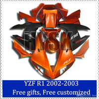 aftermarket decals - Orange fairing kits for Yamaha YZF R1 ABS plastic Cowling YZF R1 Aftermarket motorcycle bodywork with original decal