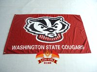 badger flag - Wisconsin Badgers Flag UW Red Large x5