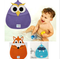 bath tub kids - Cute Fox Owl Bathing bag Toy Storage Bag for Kids Baby Bath Tub Toy Bag Hanging Organizer Storage Bag Baby Bath Toys Bag K7070 BJ