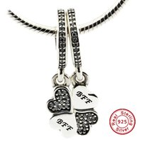 best tv glasses - 2016 Best Friends Forever Charm with Clear CZ Sterling Silver Bead Fit Pandora Bracelet Fashion Jewelry DIY Charm Brand