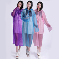Wholesale Adult disposable raincoat thickening Snap button silk grind arenaceous poncho Outdoor sports tour cycling raincoat Can prevent the wind