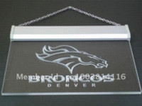 Wholesale b067 r Denver Broncos Bar Pub Logo LED Neon Light Sign Dropshipping Cheap dropship products