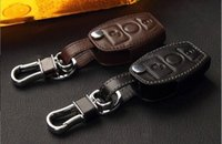 american mercedes - Fashion men and women Genuine Cow Leather Car Key Case Black Brown For Mercedes Benz ML450 glk300 GLK260 b180 e280 c200
