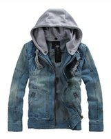 Wholesale 2016 Zmario Autumn and Winter New Style Men s Hoodied Denim Jackets KissAir TM Vintage Slim Fit Jean Coat