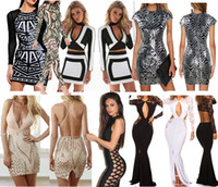 Wholesale Hot New Fashion Women Sexy Party for Europe and the United States high end hollow lace embroidery Sling package hip Sexy Jumpsuit dress