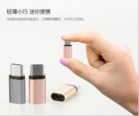 Wholesale 2016 Aluminum Colorful USB Type C Adapter Fast Charger Charging Data Sync USB C Adaptor