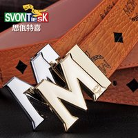 Wholesale Designer belt The new fashion belts of men Smooth leather belt buckle