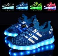 achat en gros de salle de gym bâton-2017 Nouvelles chaussures lumineuses de LED Vente de la surface de la surface Net Magic enfants enfants chaussures de loisirs Chaussures de gymnastique Vente en gros