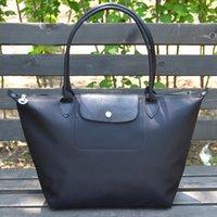 big leather hobo bags - Fashion Brand design Women Handbags waterproof nylon Long handle big capacity beach Folded bag Champagne Women bags