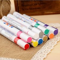Wholesale 2 mm Metal pen paint pen doodle pen mark pen photo album Scrapbook DIY colors Writing dry ceramic glass black card
