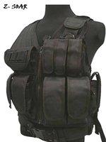 Wholesale Meshed D polyester tactical vest Airsoft Vest Army Vest bulletproof vest Black