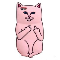bad phones - Samsung note5 iPhone S s s quot Plus quot RIPNDIP Pocket Cat Silicone Cell Phone Case Middle Finger Bad Cat iphone case pink