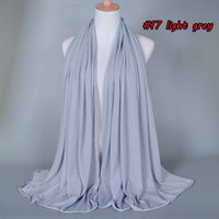 Wholesale womens muslim modal scarf women gray modal scarf women yanwen cotton blend tassel long hijabs scarf scarf