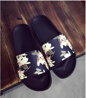 Wholesale 2016 Hot selling men floral slippers printing flower little bee men sandals beach slides flat sandals for