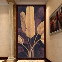banana trees - Custom Photo Wallpaper Southeast Asian Style Wall Paper Yoga Banana Trees Mural Entrance TV Sofa Background Murals Wallpaper