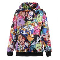 animated pullover - Fashion Adventure Time Autumn Winter Women Hoodied Sweatshirt Animated Cartoon Digital Print Casual Long Sleeve Hoodies