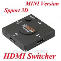Wholesale 3Pcs Mini Port HDMI Switch Switcher HDMI Splitter HDMI Port for HDTV P Vedio Drop Shipping Low Price
