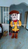 adult woody costume - High quality denim clothing mascot Woody mascot adult type discount