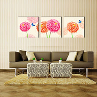 abstract painting definition - 3 Panel Large Modern Flower and Butterfly Canvas Painting Cuadros Wall Picture For Living Room High Definition Printing